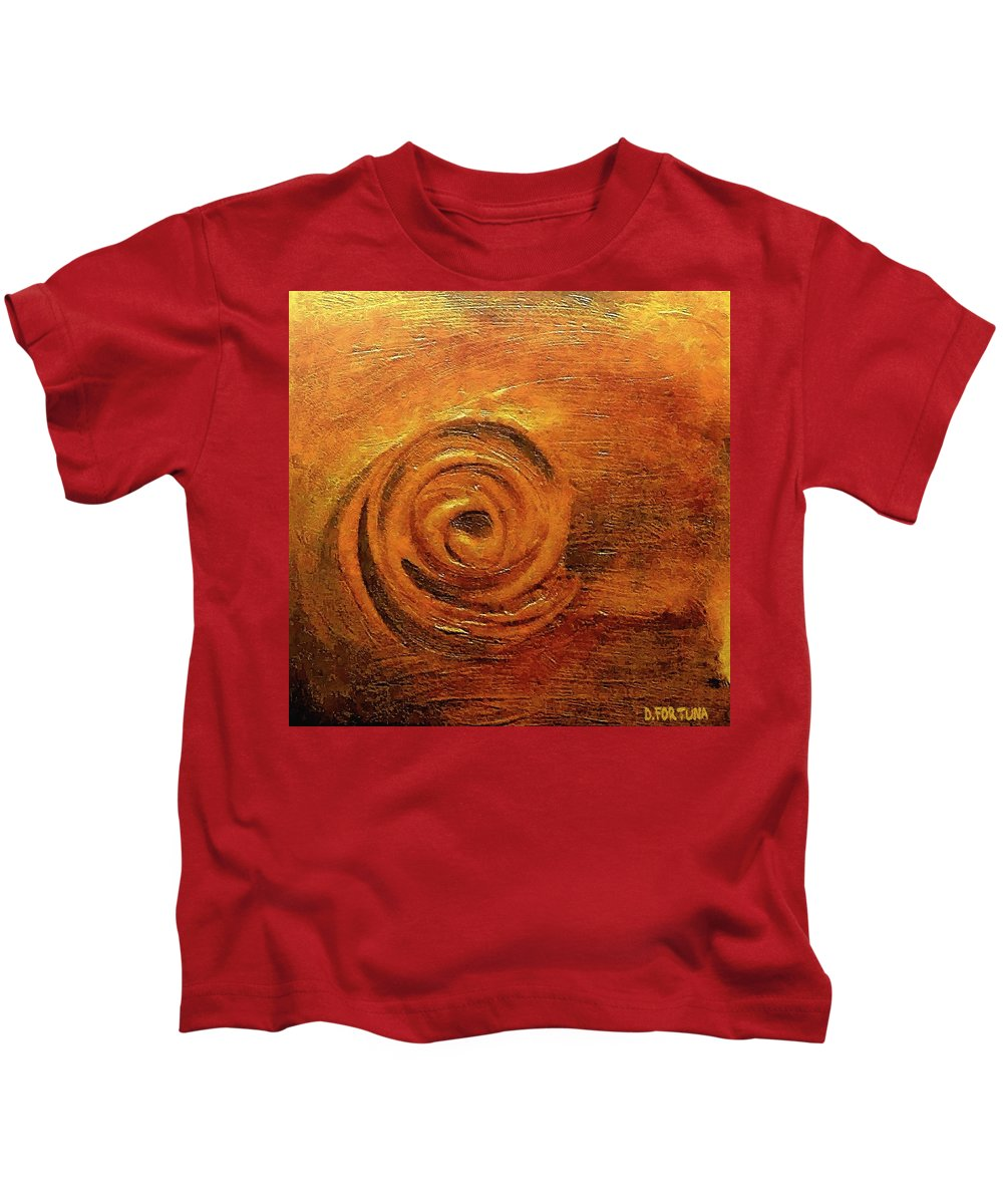 Abstract Kids T-Shirt featuring the mixed media Lust by Dragica Micki Fortuna