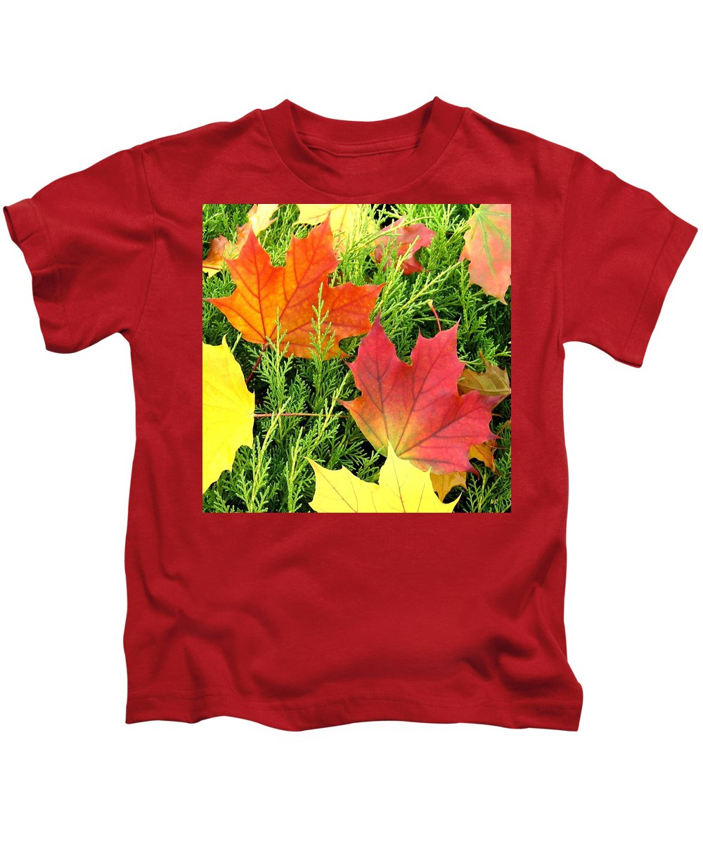 Autumn Kids T-Shirt featuring the photograph Maple Mania 5 by Will Borden