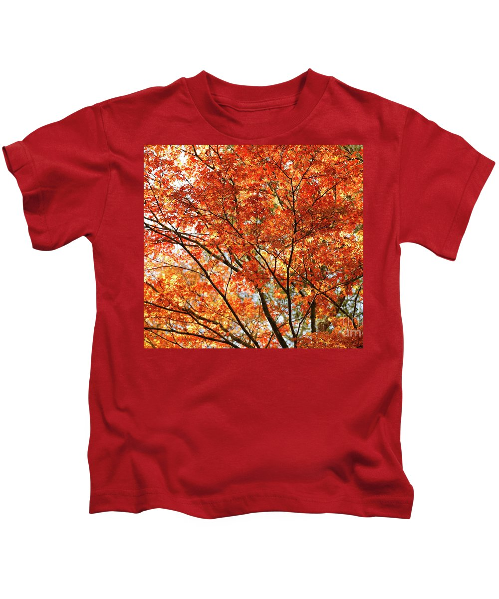 Maple Kids T-Shirt featuring the photograph Maple Tree Foliage by Gaspar Avila