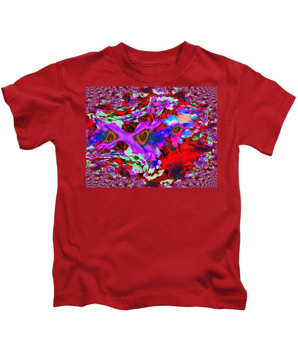 Abstract Kids T-Shirt featuring the photograph Melted Together by Jeff Swan