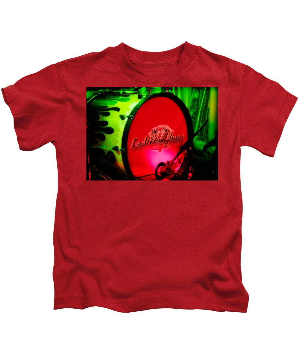 Kickdrum Kids T-Shirt featuring the photograph Mic'd Up by Kendall Tabor