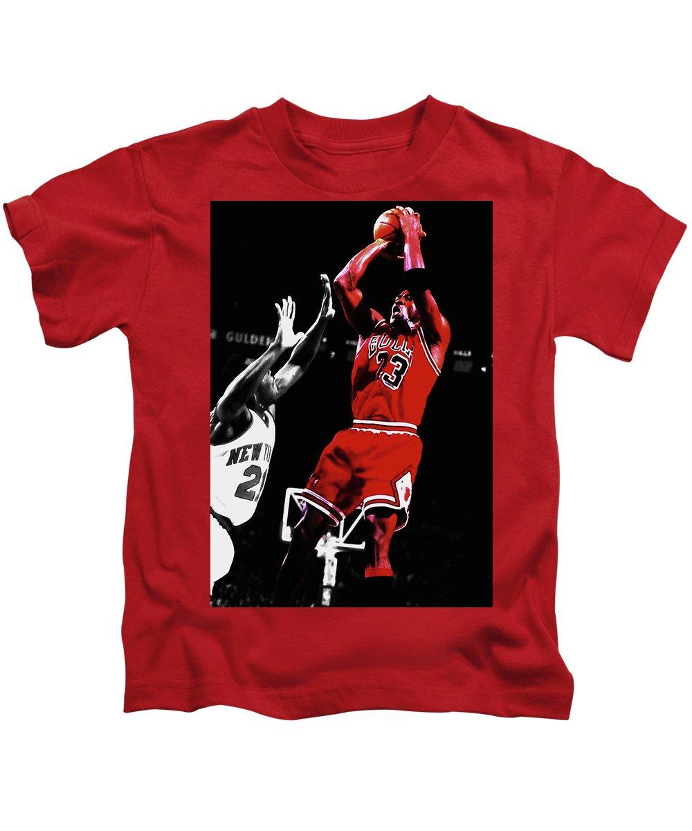 5c4547eb9ecbf2 Michael Jordan Fade Away 1a Kids T-Shirt for Sale by Brian Reaves