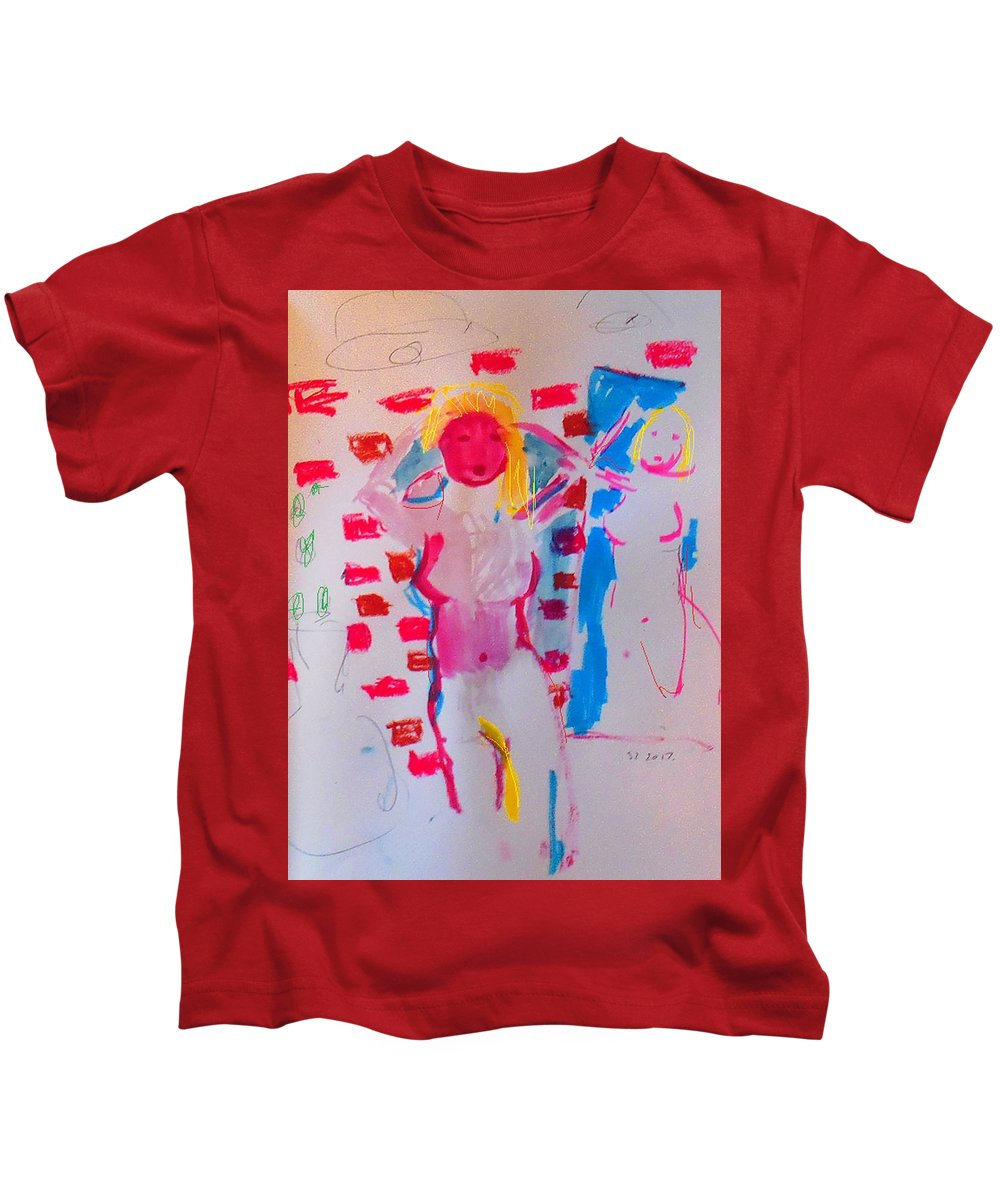 A Mirror Kids T-Shirt featuring the mixed media Mirror by Samuel Zylstra