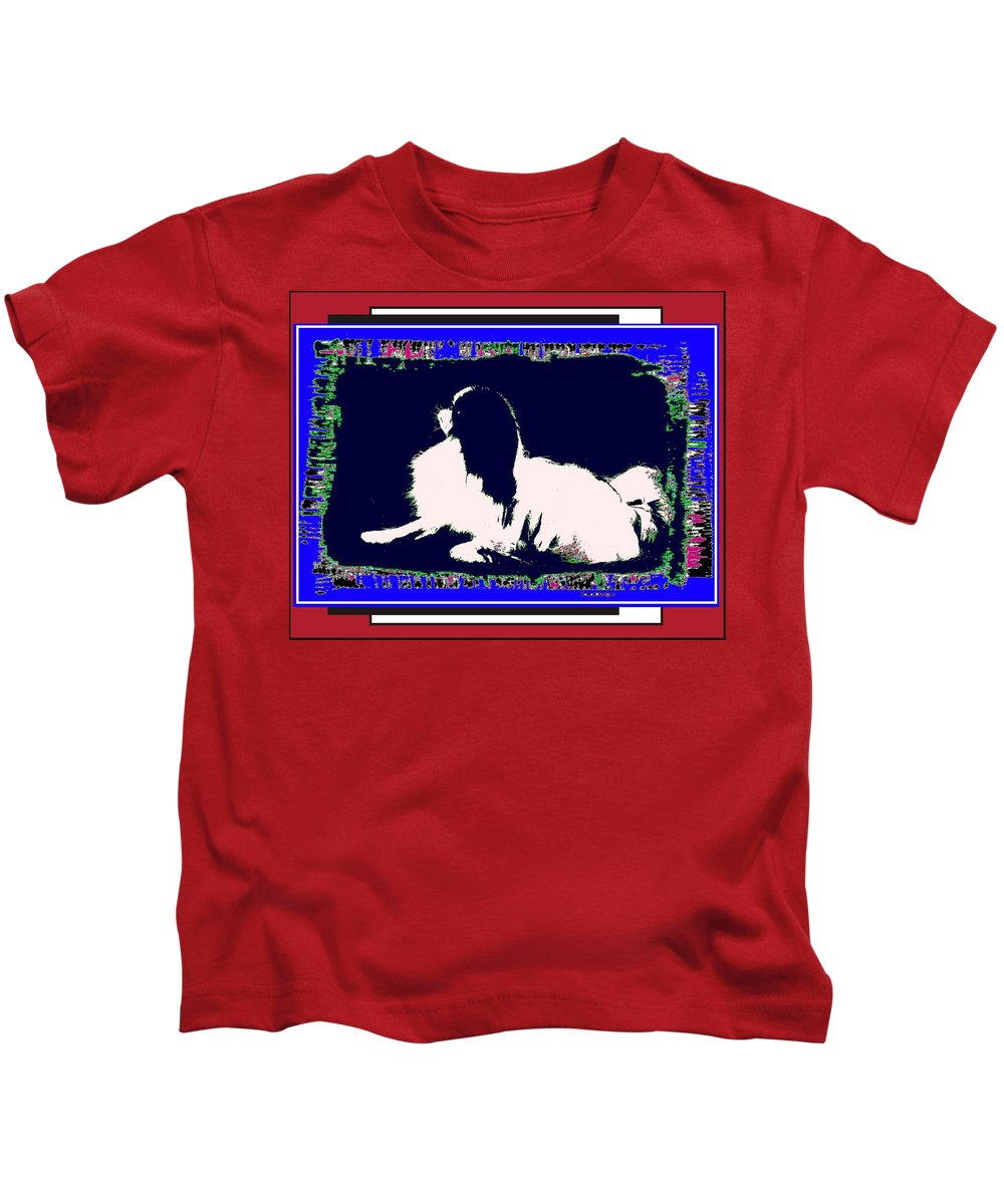 Mod Dog Kids T-Shirt featuring the digital art Mod Dog by Kathleen Sepulveda