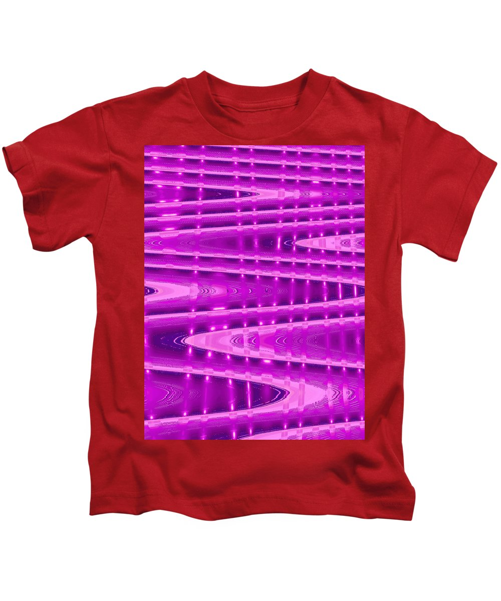 Moveonart! Digital Gallery Kids T-Shirt featuring the digital art Moveonart Abstract Waves And Light Six by Jacob Kanduch