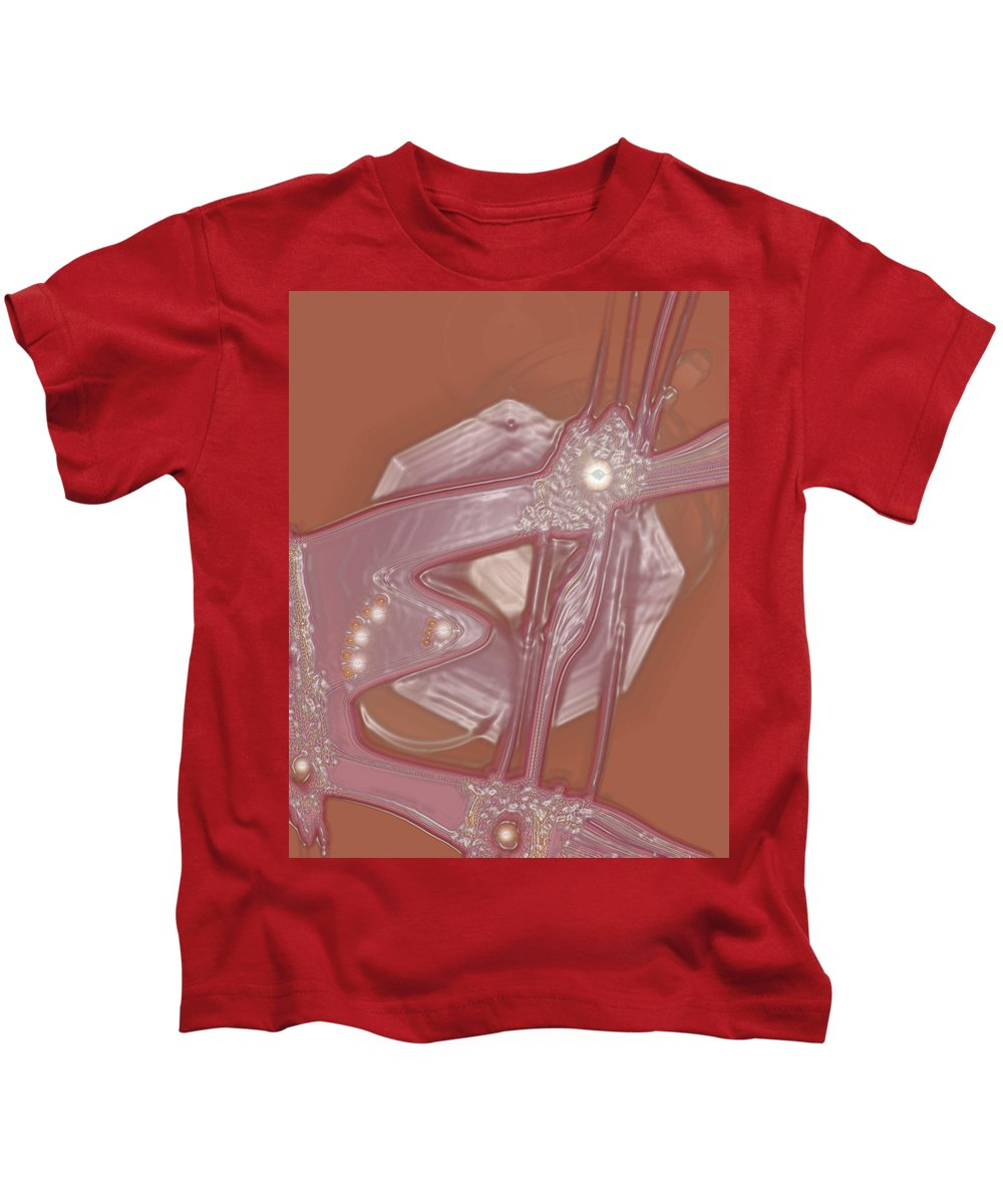 Moveonart! Digital Gallery Kids T-Shirt featuring the digital art Moveonart Creative Peaceful Creature Five by Jacob Kanduch