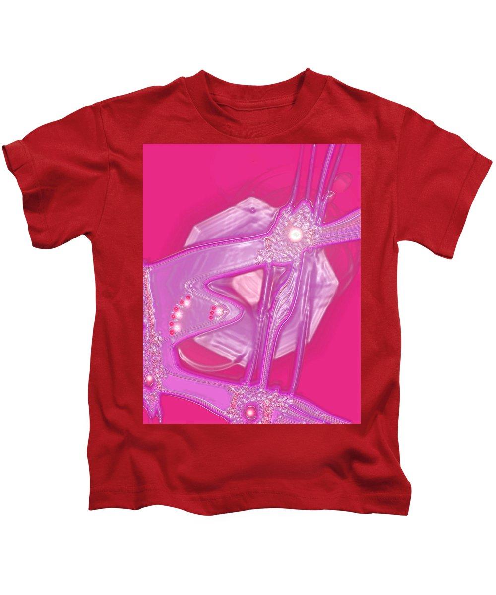 Moveonart! Digital Gallery Kids T-Shirt featuring the digital art Moveonart Creative Peaceful Creature Seven by Jacob Kanduch