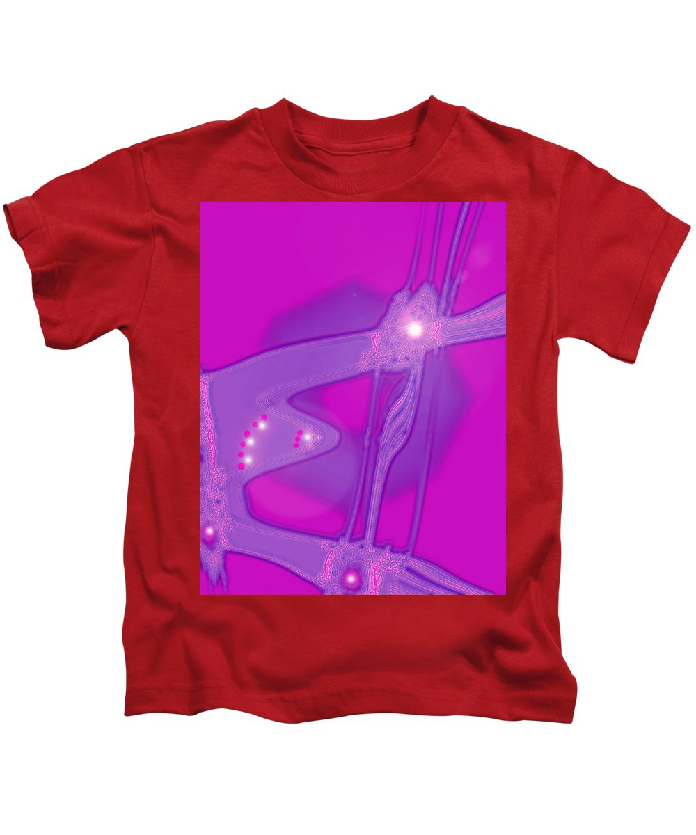 Moveonart! Digital Gallery Kids T-Shirt featuring the digital art Moveonart Creative Peaceful Creature Two by Jacob Kanduch