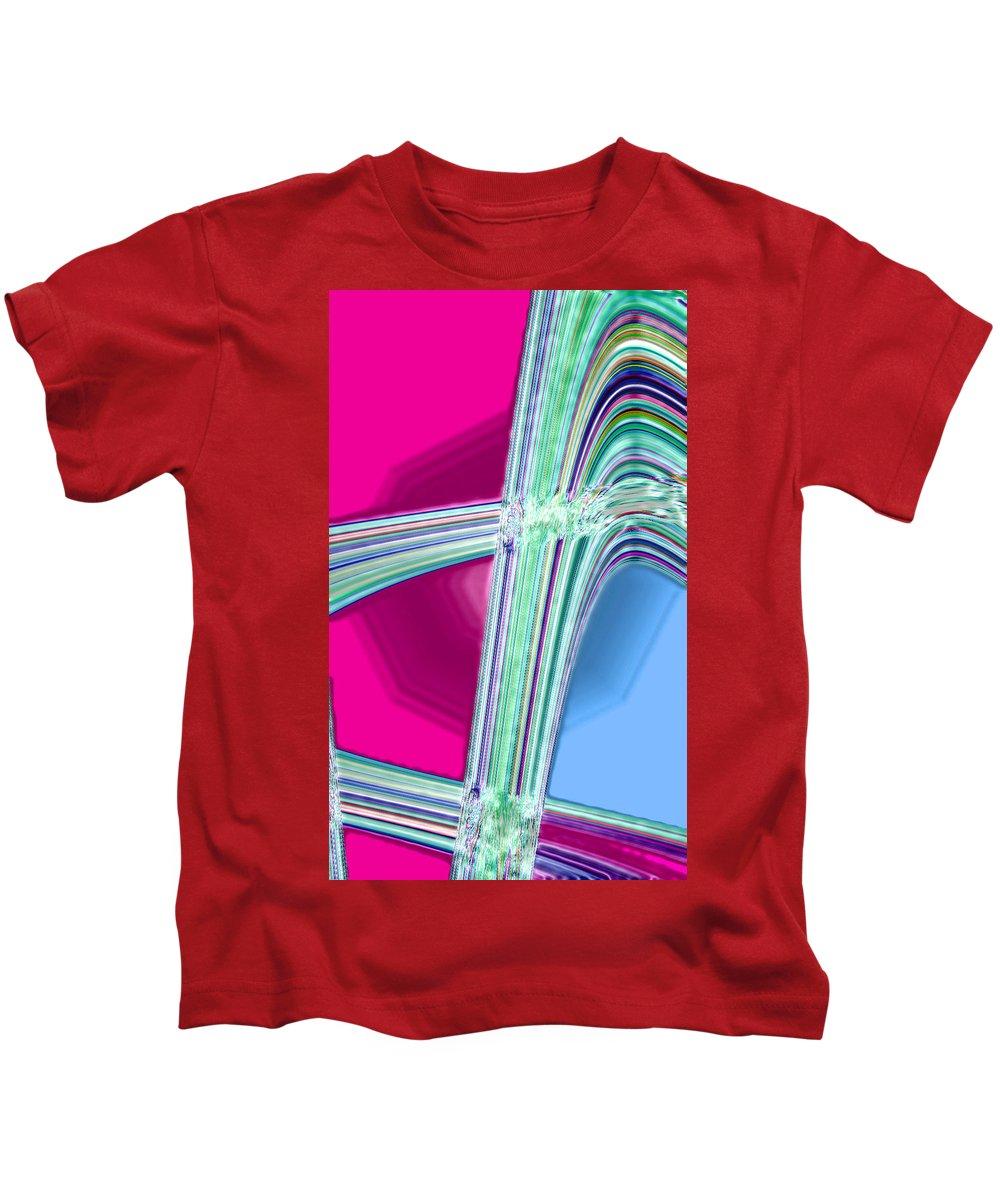 Moveonart! Digital Gallery Kids T-Shirt featuring the digital art Moveonart Good Memory Of The Waves by Jacob Kanduch