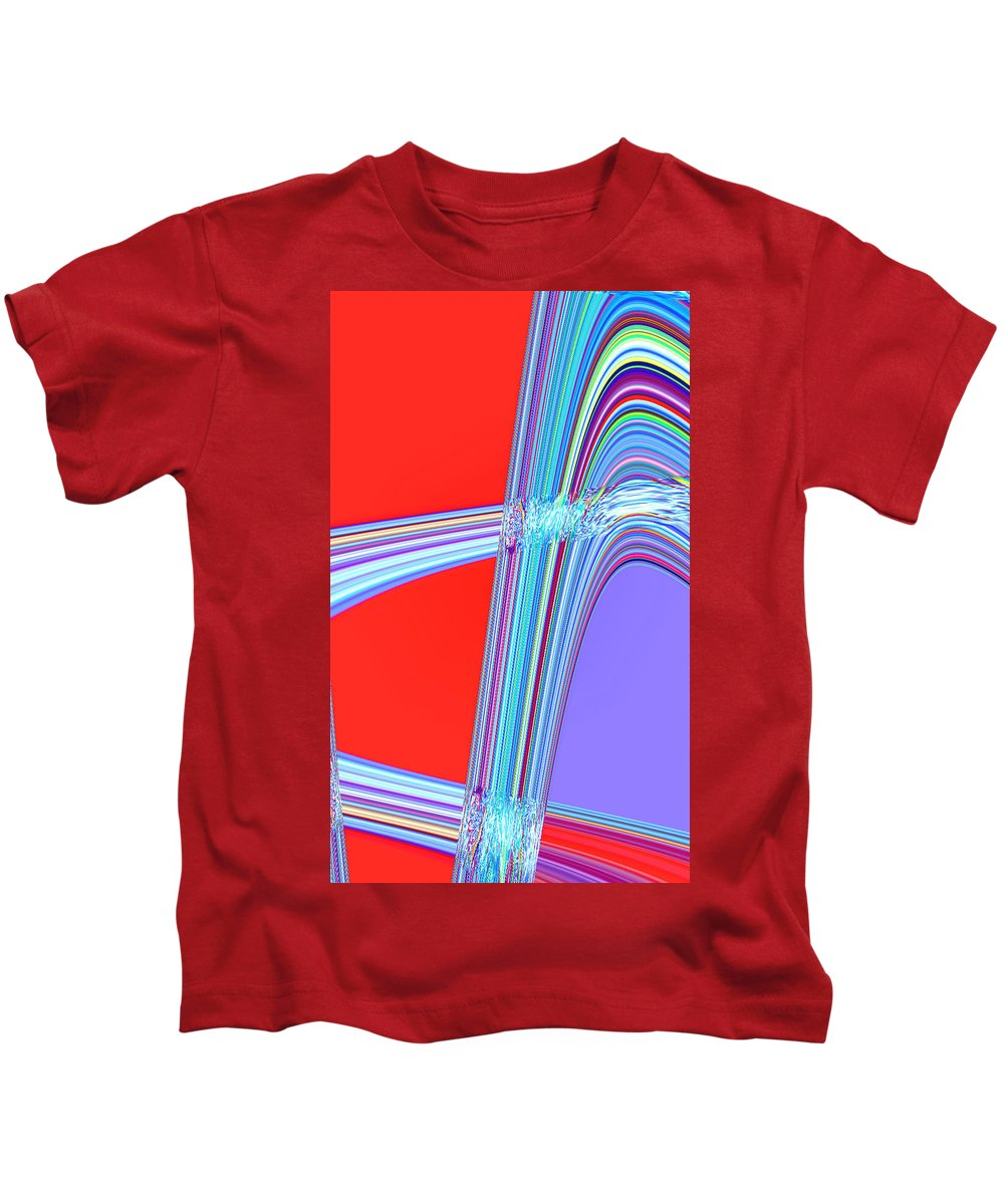 Moveonart! Digital Gallery Kids T-Shirt featuring the digital art Moveonart Live Move Collaborate by Jacob Kanduch