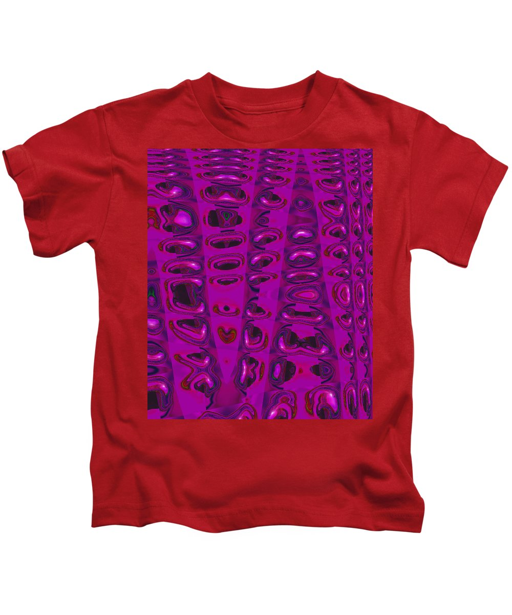 Moveonart! Digital Gallery Kids T-Shirt featuring the digital art Moveonart Touched 4 by Jacob Kanduch
