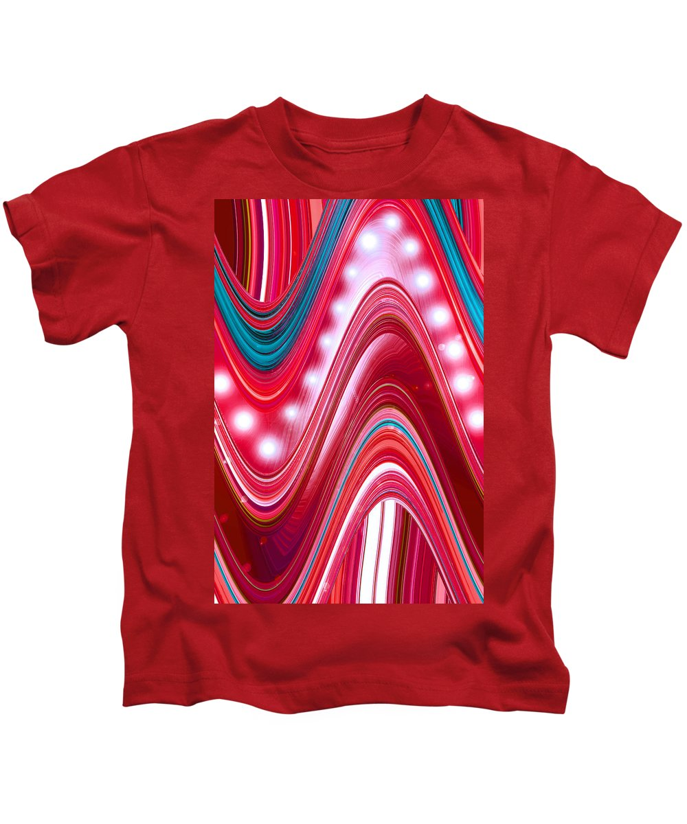 Moveonart! Digital Gallery Kids T-Shirt featuring the digital art Moveonart Wave Of Enlightenment Three by Jacob Kanduch