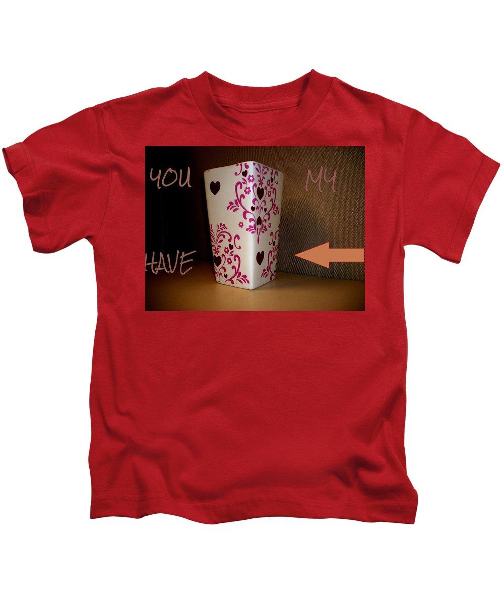 Heart Kids T-Shirt featuring the photograph My Heart by Rene GrayMitchell