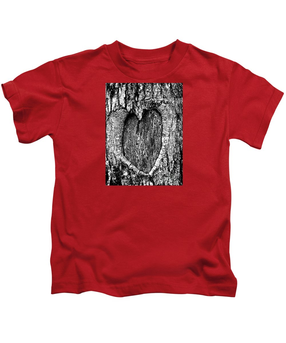 Photograph Kids T-Shirt featuring the photograph My Wood Heart by Expressionistart studio Priscilla Batzell