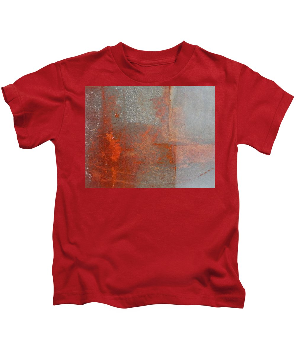 Canvas Kids T-Shirt featuring the painting Naranja by Leah Hicks