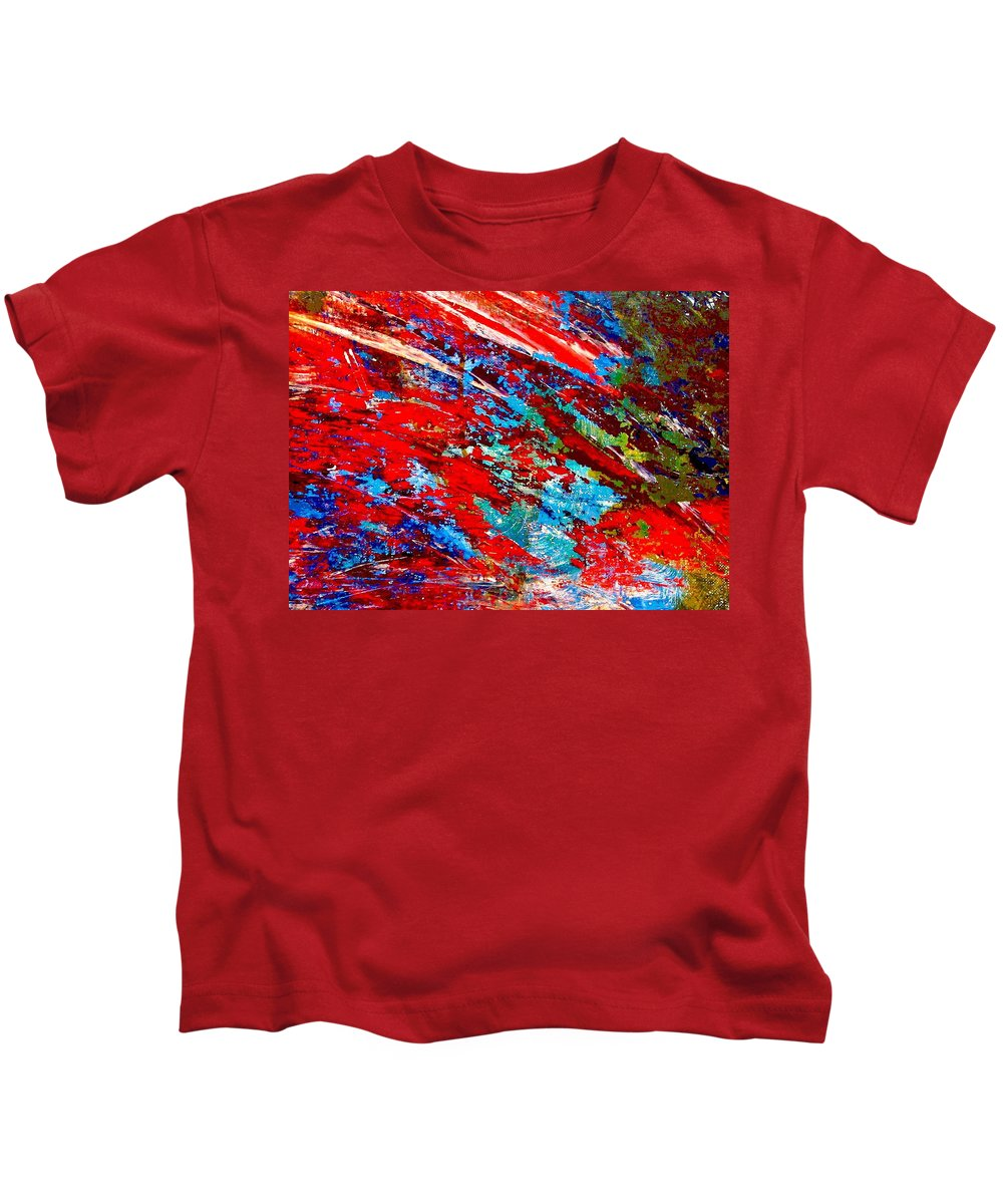 Abstract Kids T-Shirt featuring the painting Nature Harmony by Natalie Holland