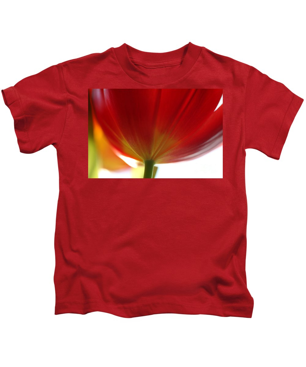 Tulip Kids T-Shirt featuring the photograph New Day by Amanda Barcon