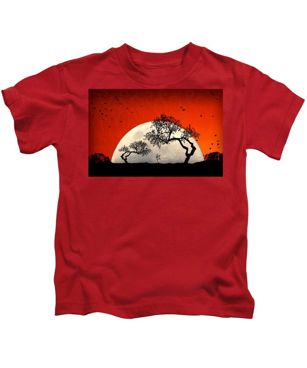 Moon Kids T-Shirt featuring the digital art New Growth New Hope by Holly Kempe