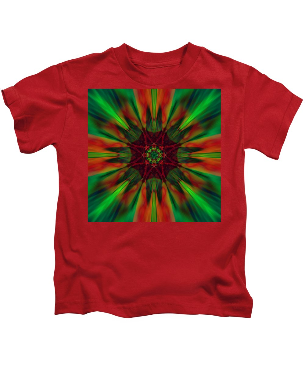 Cranberry Kids T-Shirt featuring the digital art New Life Ablaze by Suzana Mestric