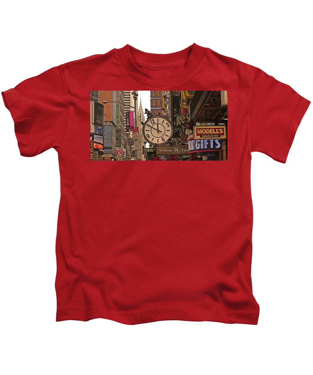 Kids T-Shirt featuring the photograph New York State Of Mind by Vladimir Damjanovic
