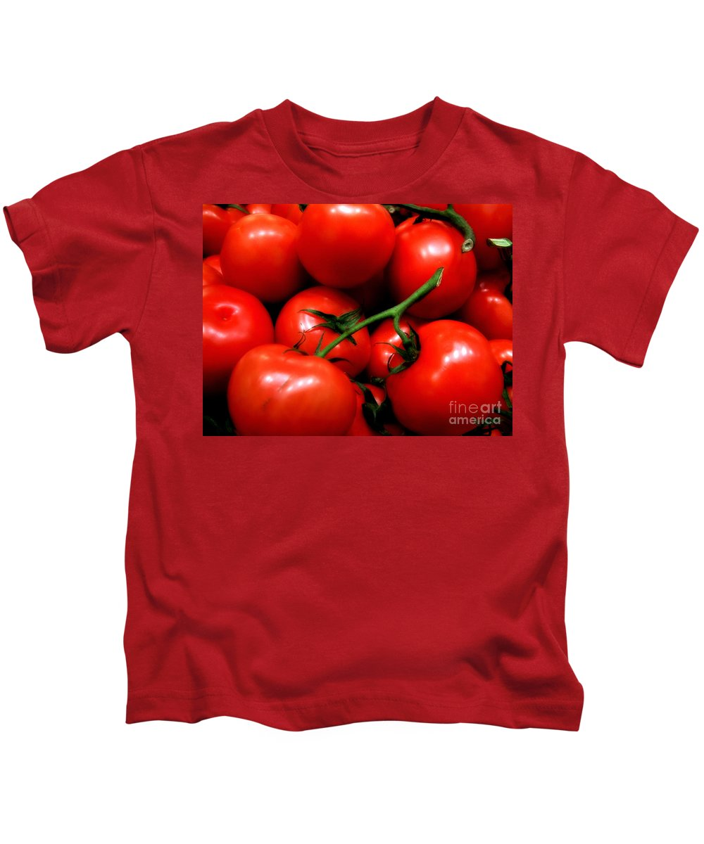 Food Kids T-Shirt featuring the photograph Nice Tomatoes Baby by RC DeWinter