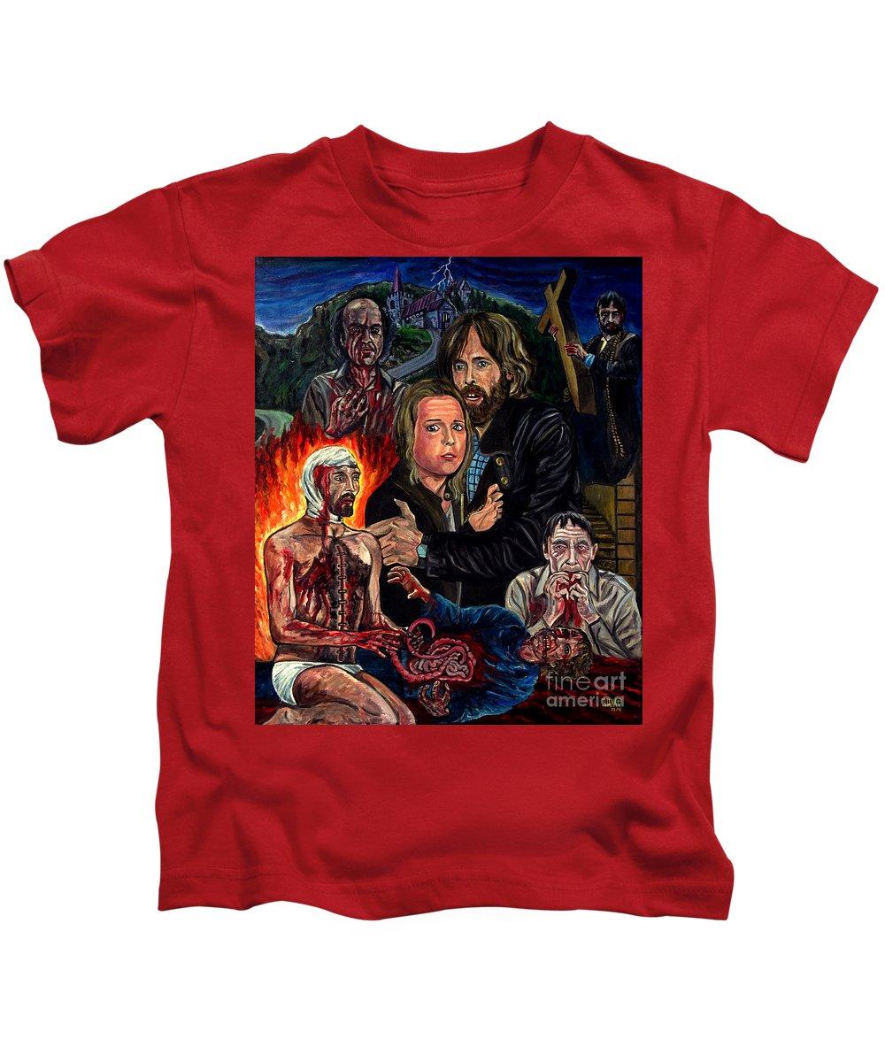 No Profanar El Sue�o De Los Muertos Kids T-Shirt featuring the painting No Profanar by Jose Mendez