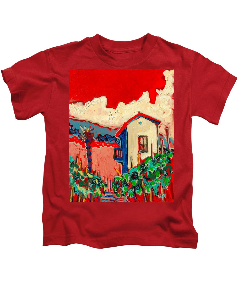 Tuscany Kids T-Shirt featuring the painting Notare by Kurt Hausmann