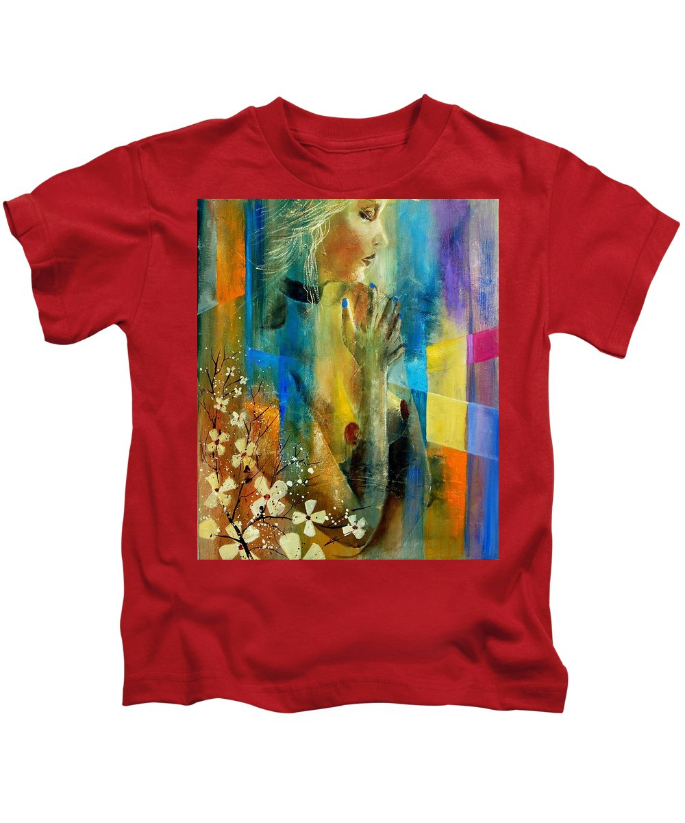 Nude Kids T-Shirt featuring the painting Nude 5609082 by Pol Ledent