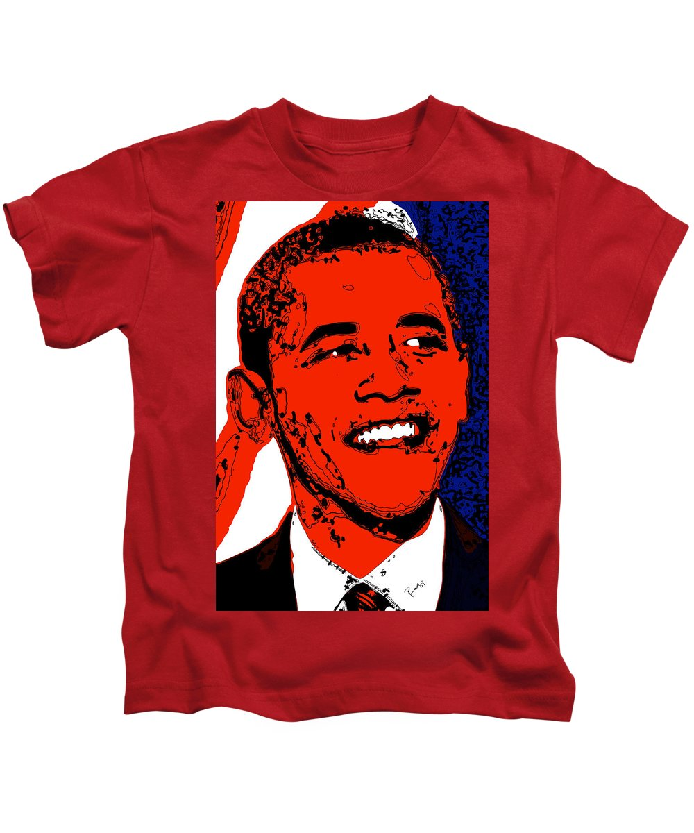 African Kids T-Shirt featuring the digital art Obama Hope by Rabi Khan