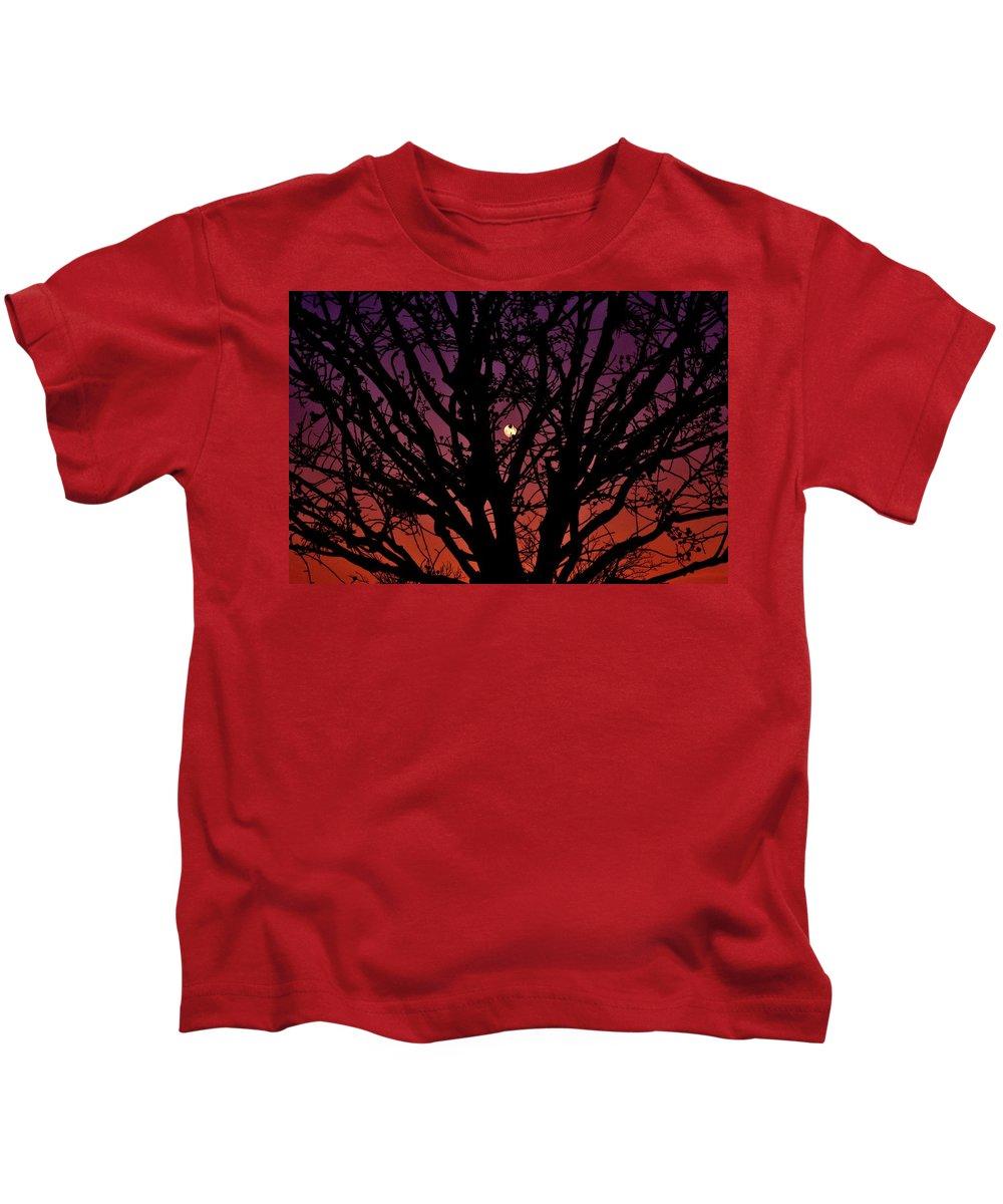 Moon Kids T-Shirt featuring the photograph Ocala Moonrise by Kari Tedrick