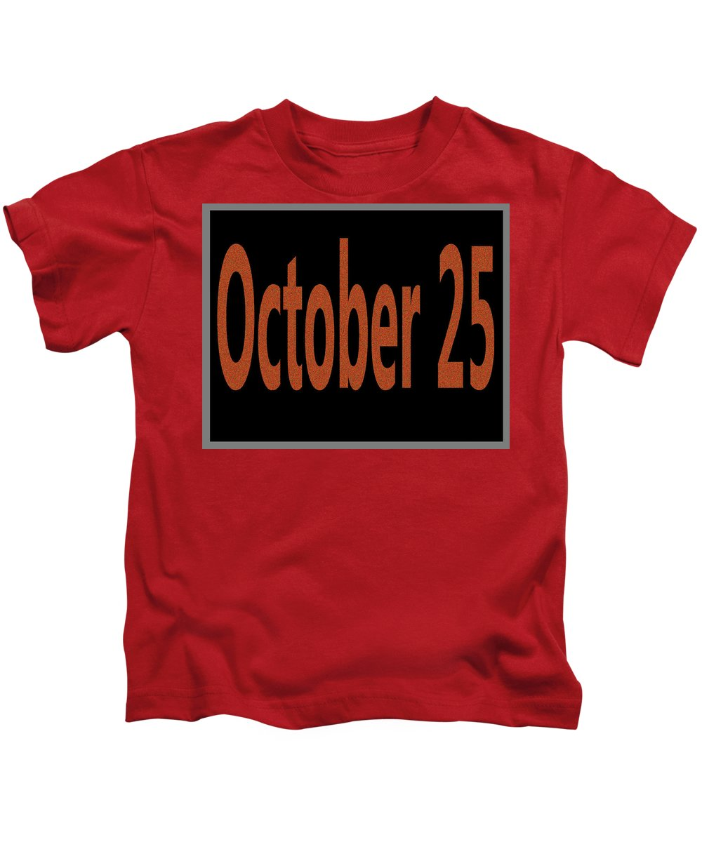 October Kids T-Shirt featuring the digital art October 25 by Day Williams