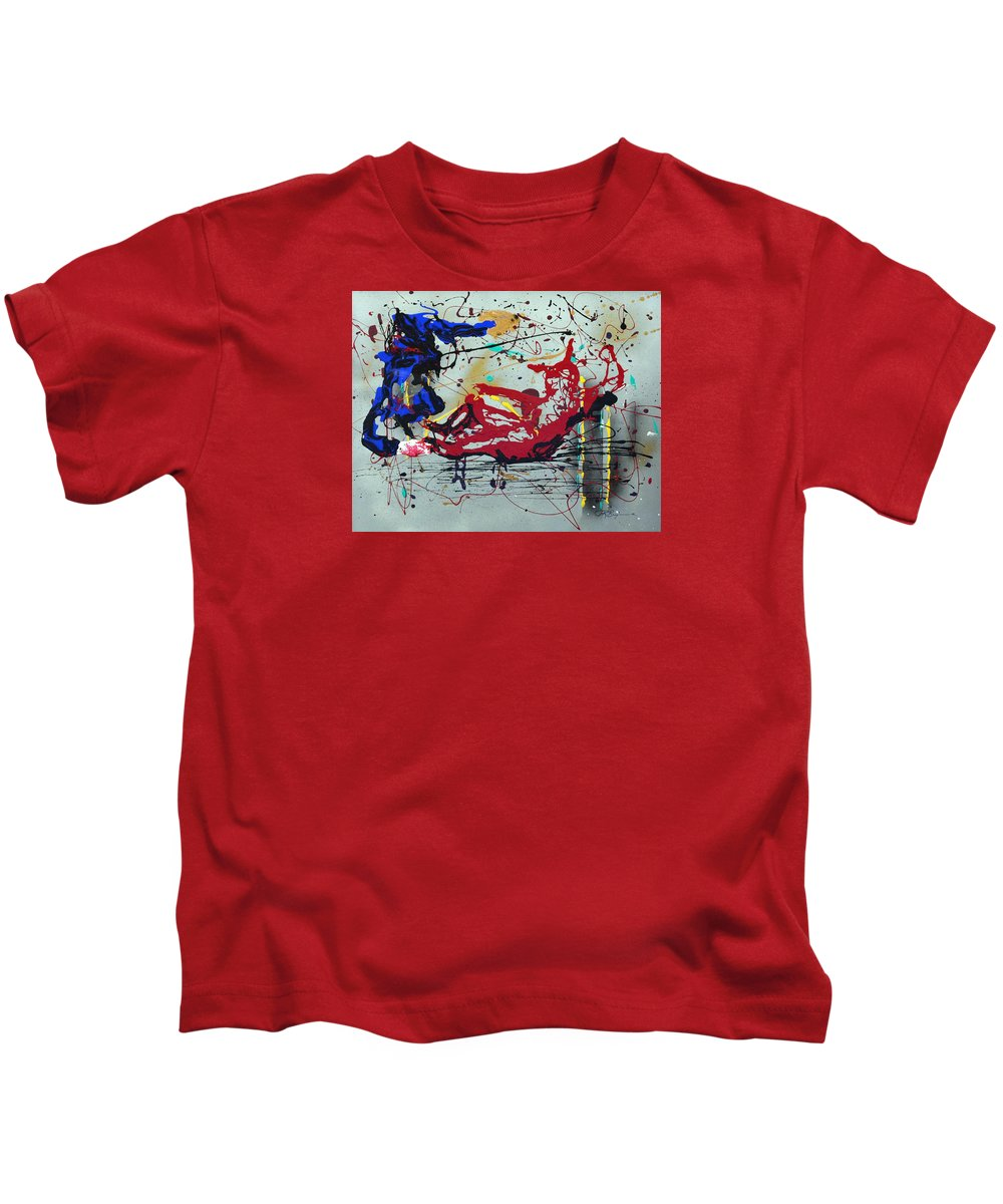 Impressionist Painting Kids T-Shirt featuring the painting October Fever by J R Seymour