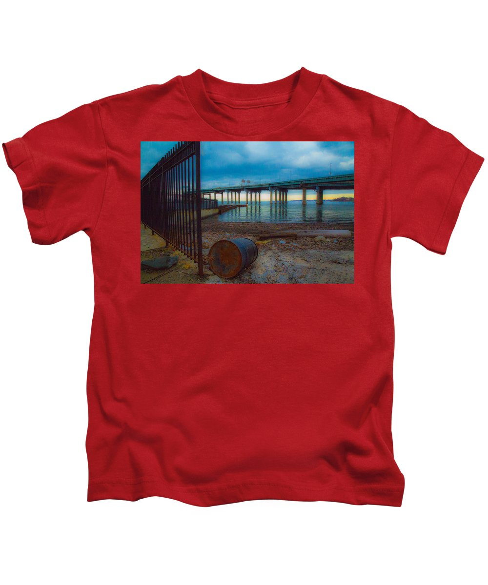 Dock Kids T-Shirt featuring the photograph Old Dock by Robert Rotkowitz