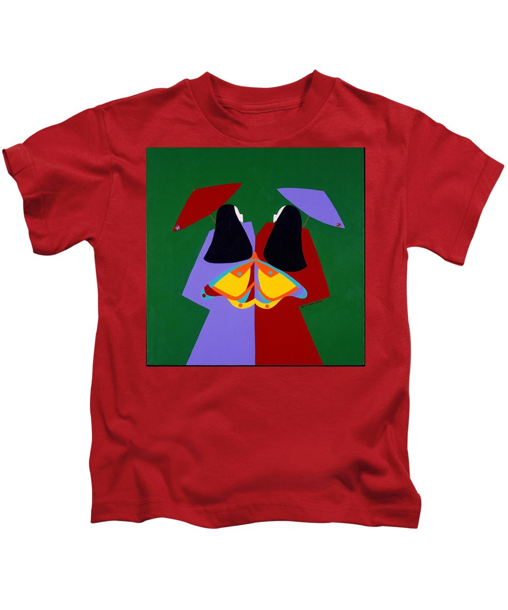 Asian Kids T-Shirt featuring the painting Old Same by Synthia SAINT JAMES