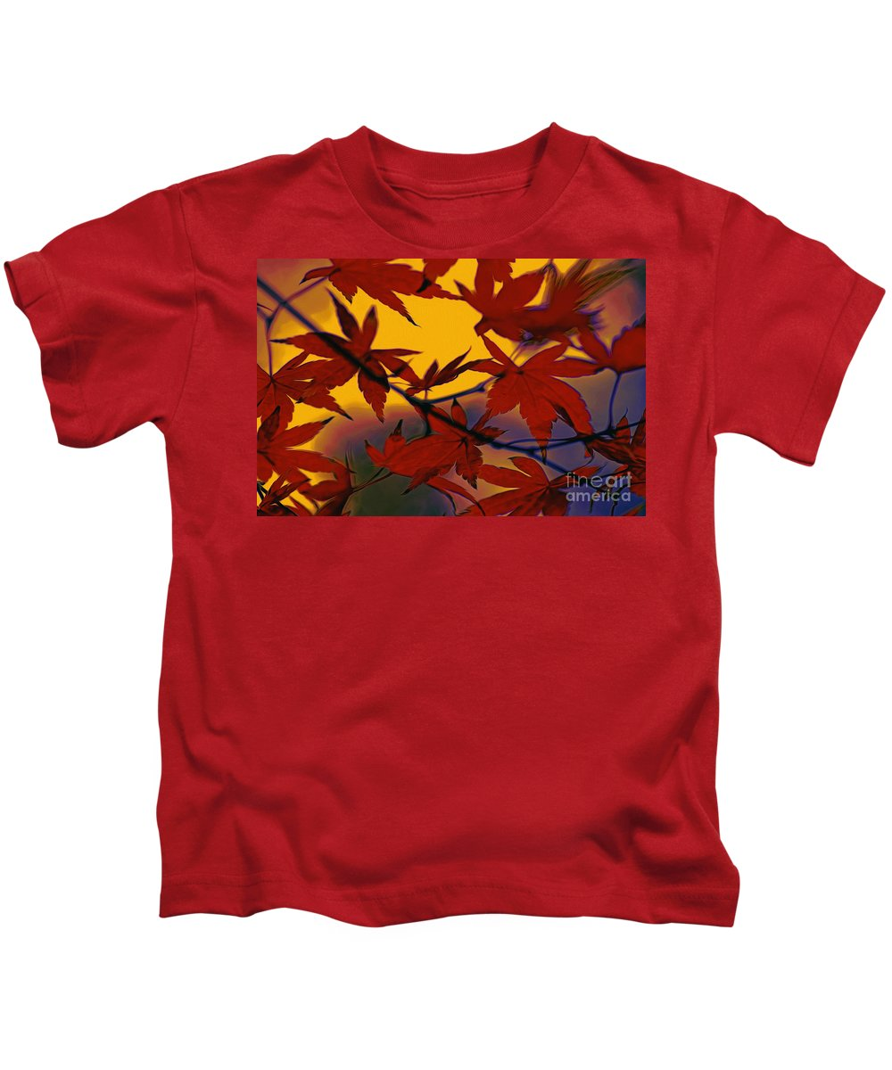 Photography Kids T-Shirt featuring the photograph One Autumn Evening By Kaye Menner by Kaye Menner