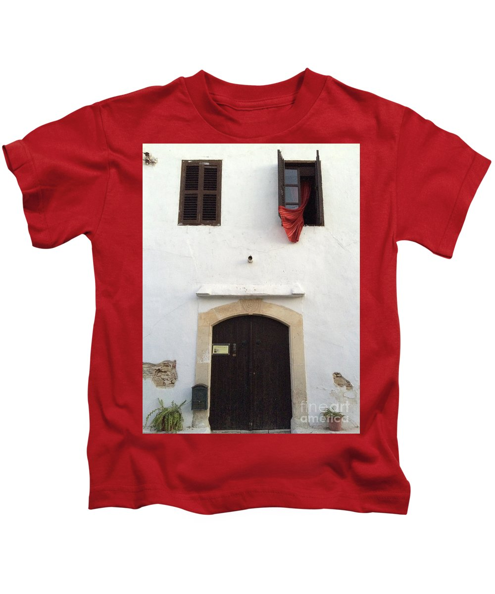 Cyprus Kids T-Shirt featuring the photograph Open Window At The Chani Mestanas by Clay Cofer