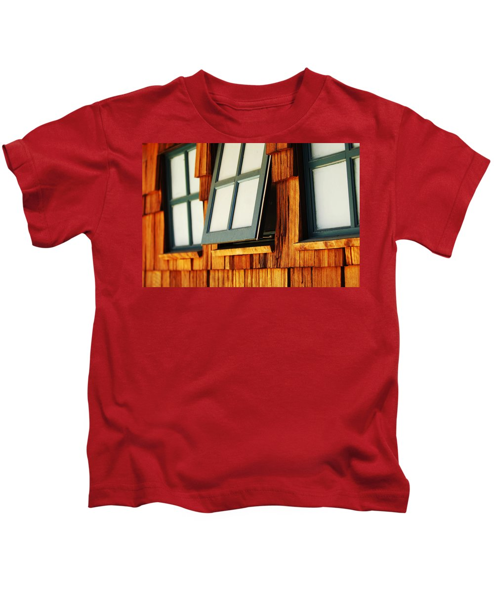 Architecture Kids T-Shirt featuring the photograph Open Window by Jill Reger