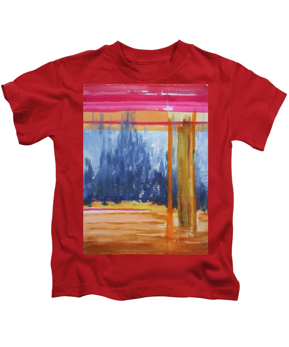 Landscape Kids T-Shirt featuring the painting Opening by Suzanne Udell Levinger