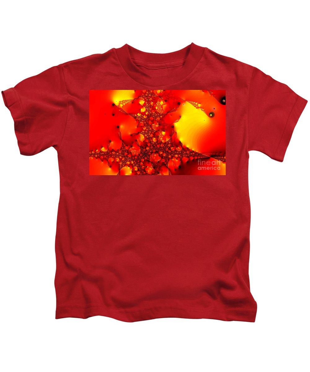 Clay Kids T-Shirt featuring the digital art Orange Peel by Clayton Bruster