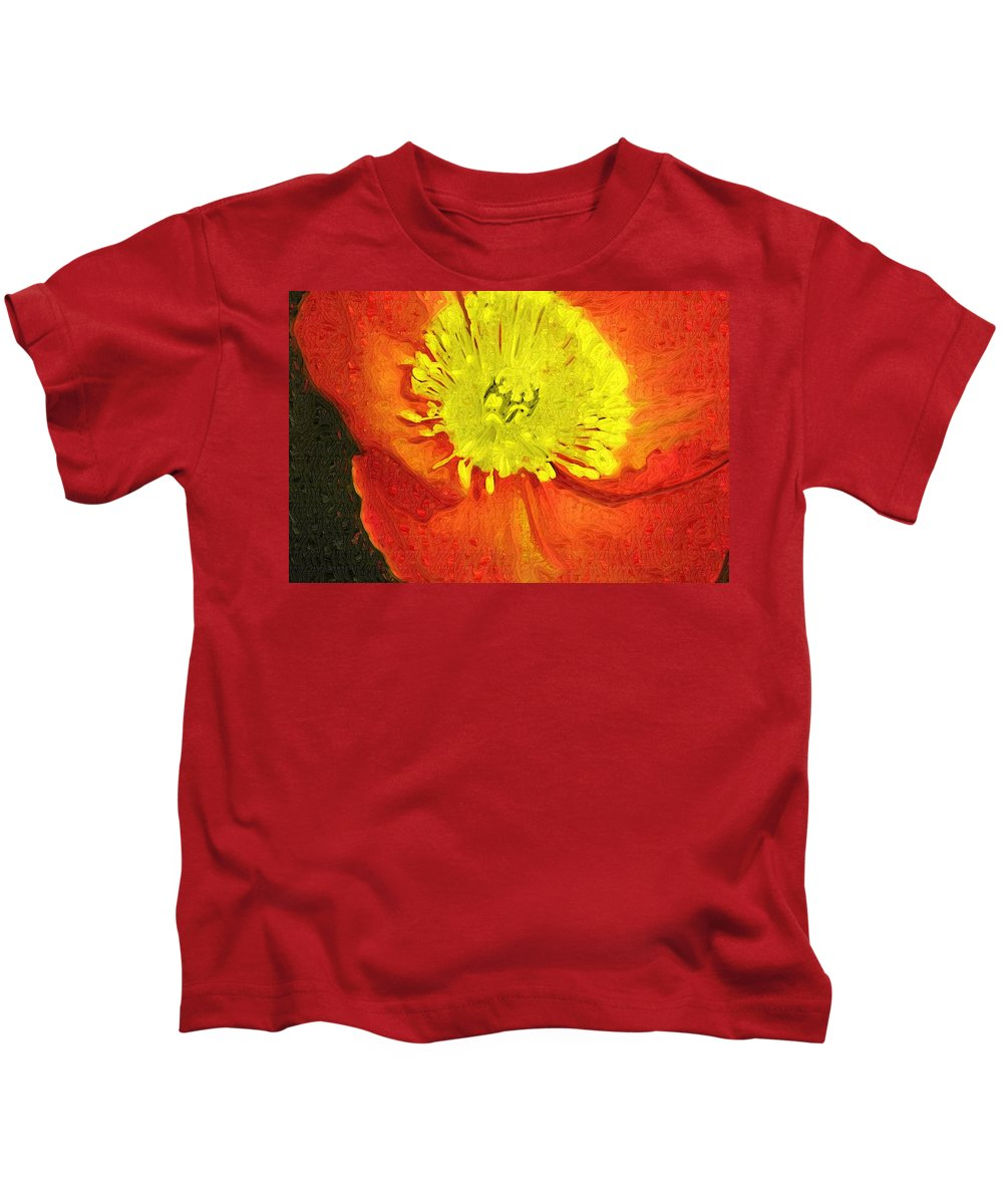 Poppy Kids T-Shirt featuring the photograph Orange Poppy by Donna Bentley