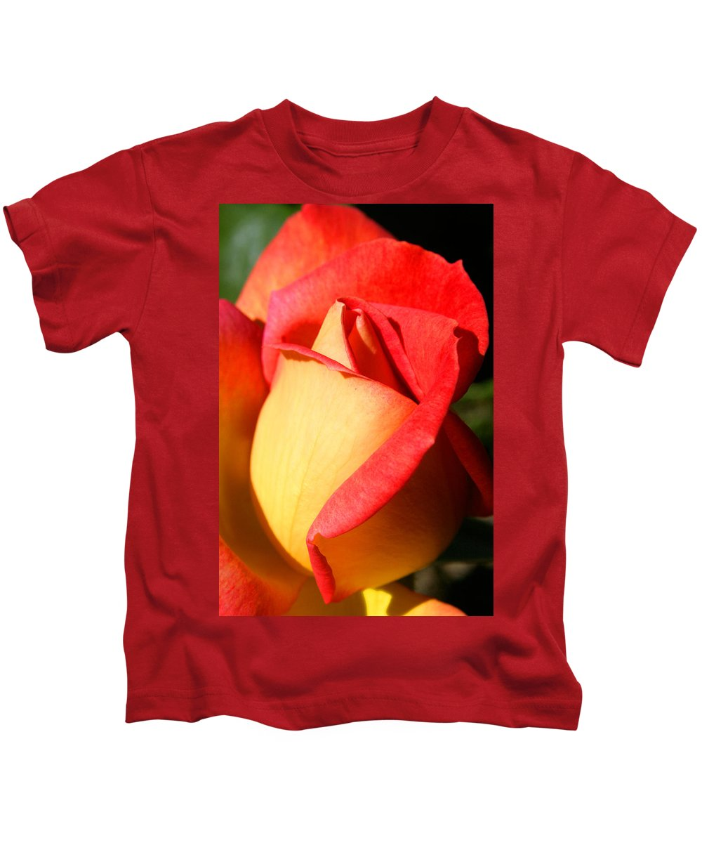 Orange Rosebud Kids T-Shirt featuring the photograph Orange Rosebud by Ralph A Ledergerber-Photography