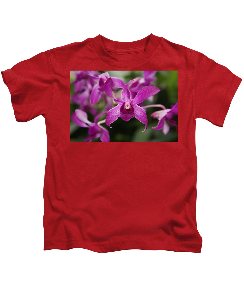 Orchid Kids T-Shirt featuring the photograph Orchid by Heather Coen