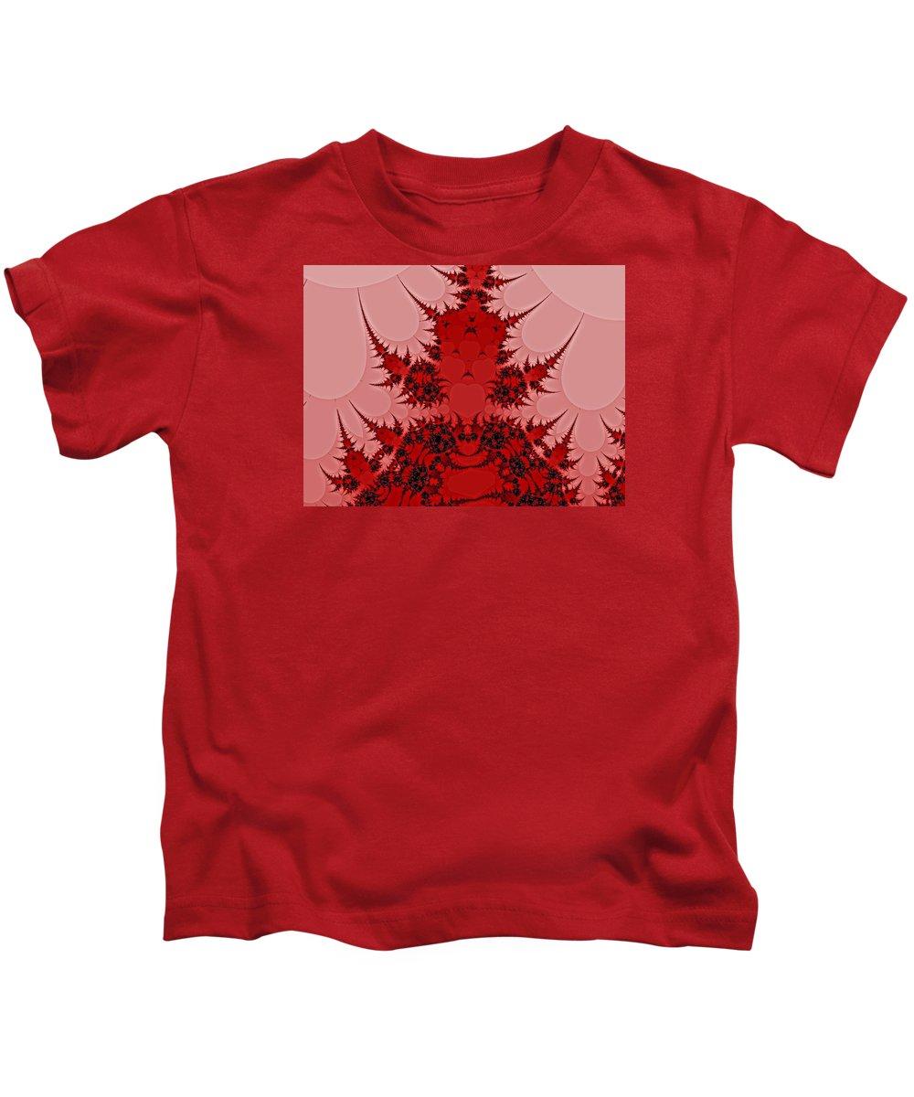 Abstract Art Kids T-Shirt featuring the digital art Ouch Bug by John Welles