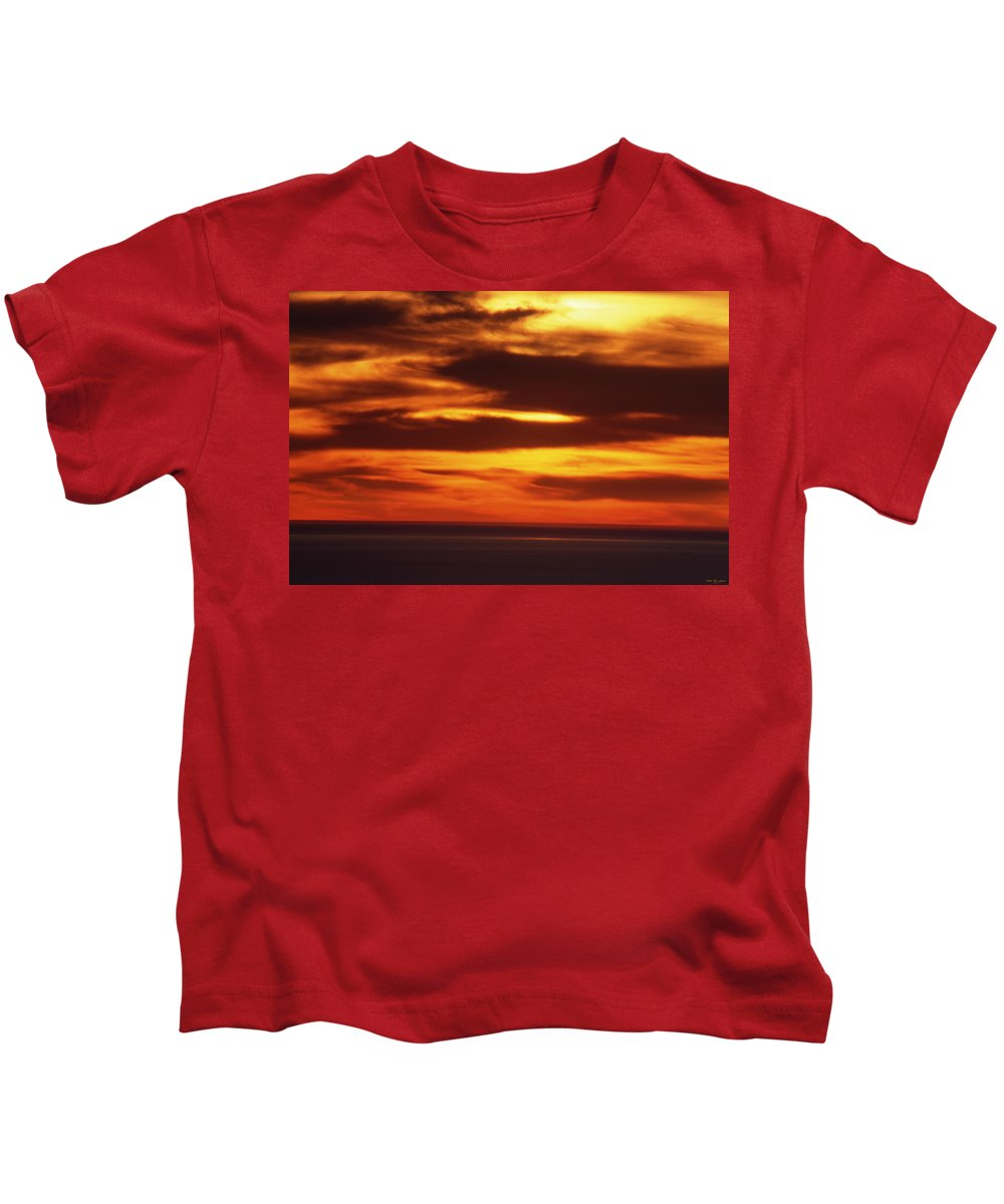 Sunset Kids T-Shirt featuring the photograph Pacific Backdrop by Soli Deo Gloria Wilderness And Wildlife Photography