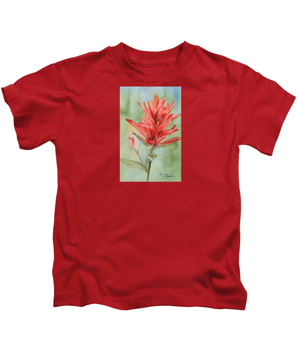 Flower Kids T-Shirt featuring the painting Paintbrush Portrait by Marsha Karle