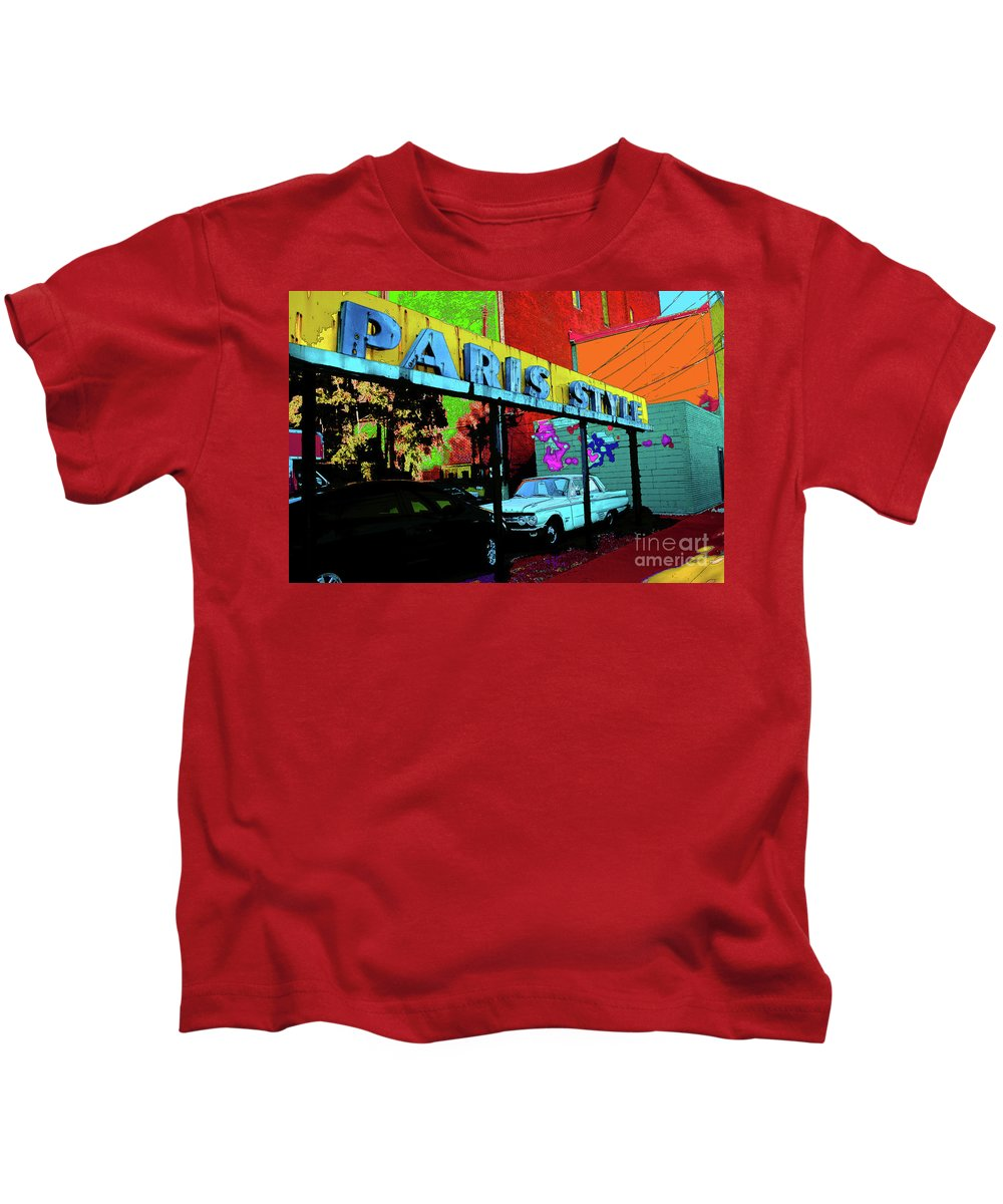 Paris Kids T-Shirt featuring the photograph Paris Style by Jost Houk