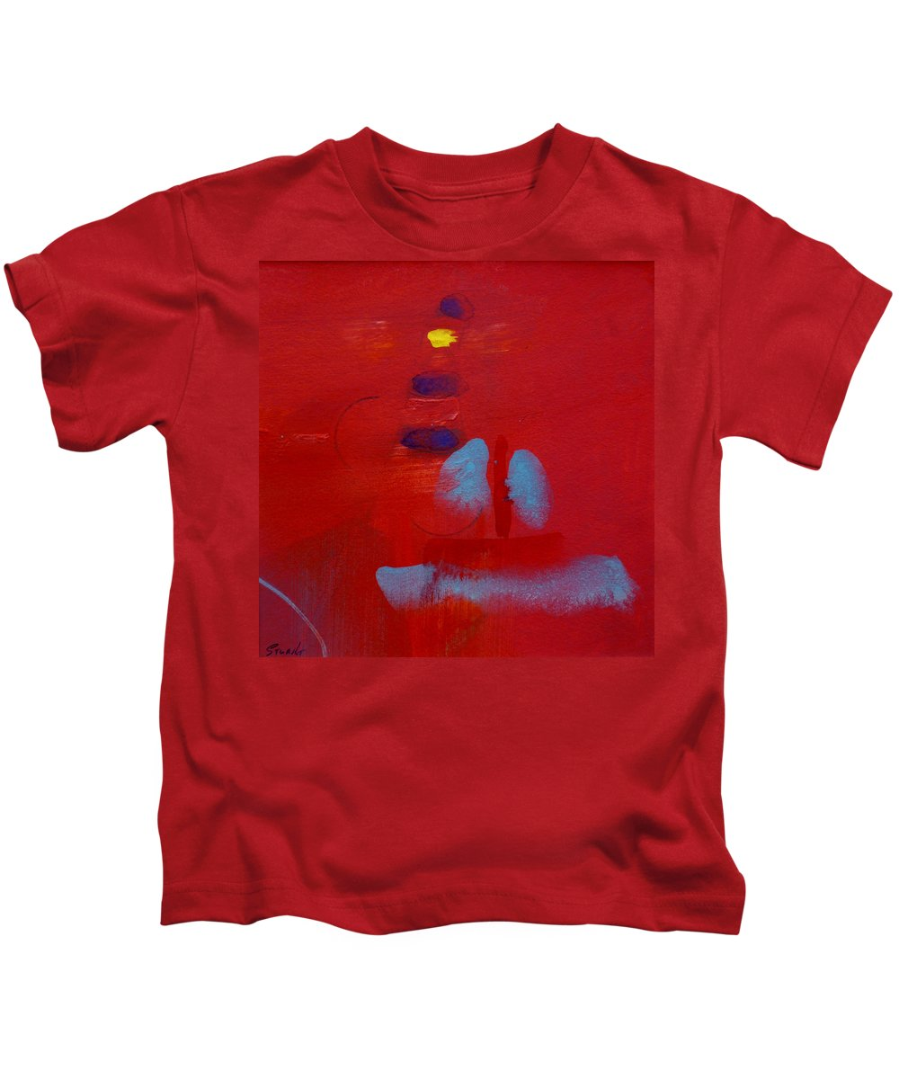 Lighthouse Kids T-Shirt featuring the painting Passing The Lighthouse by Charles Stuart