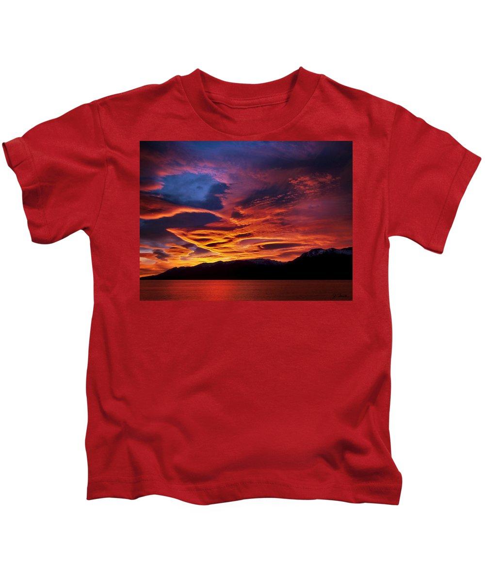 Patagonia Kids T-Shirt featuring the photograph Patagonian Sunrise by Joe Bonita