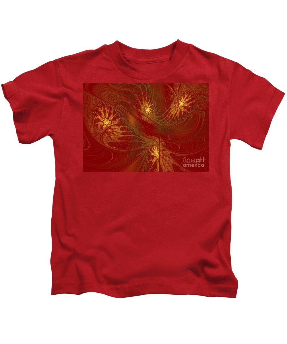 Digital Kids T-Shirt featuring the digital art Pattern Of Elegance by Deborah Benoit