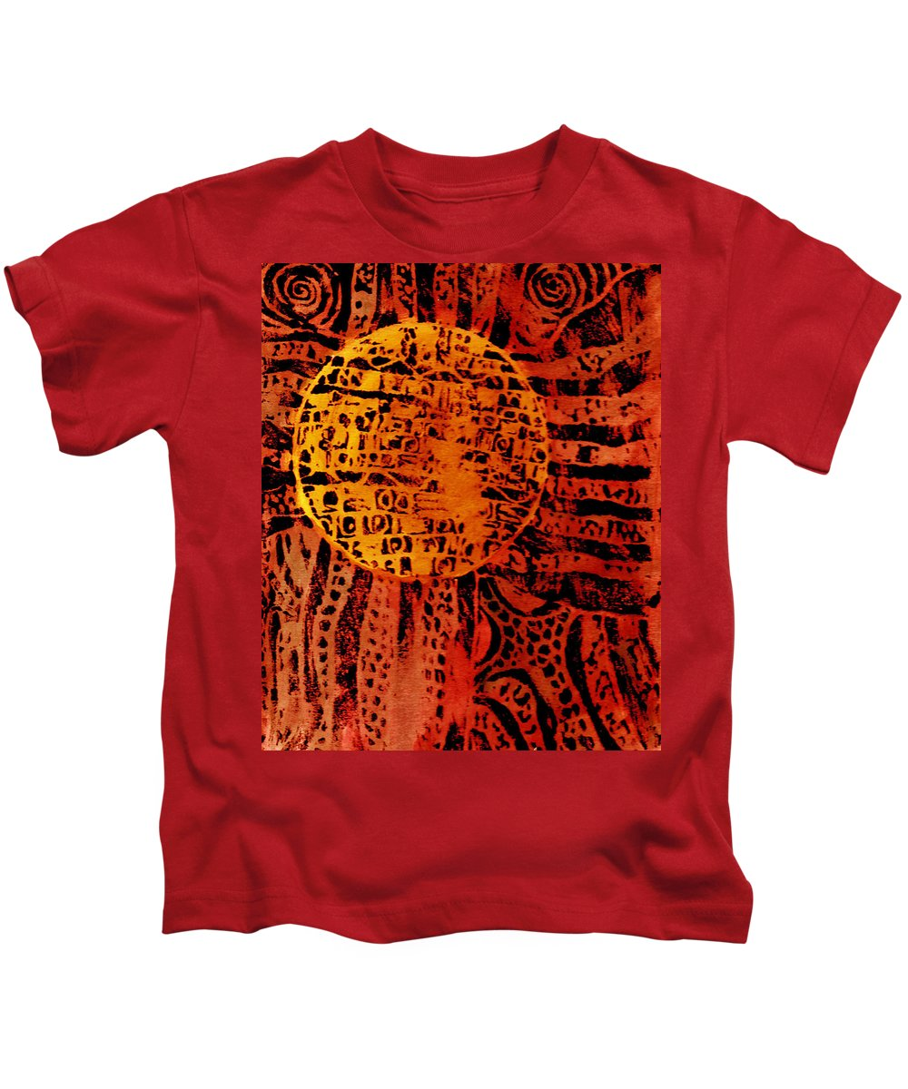 Abstract Kids T-Shirt featuring the painting Patterns In The Sun by Wayne Potrafka